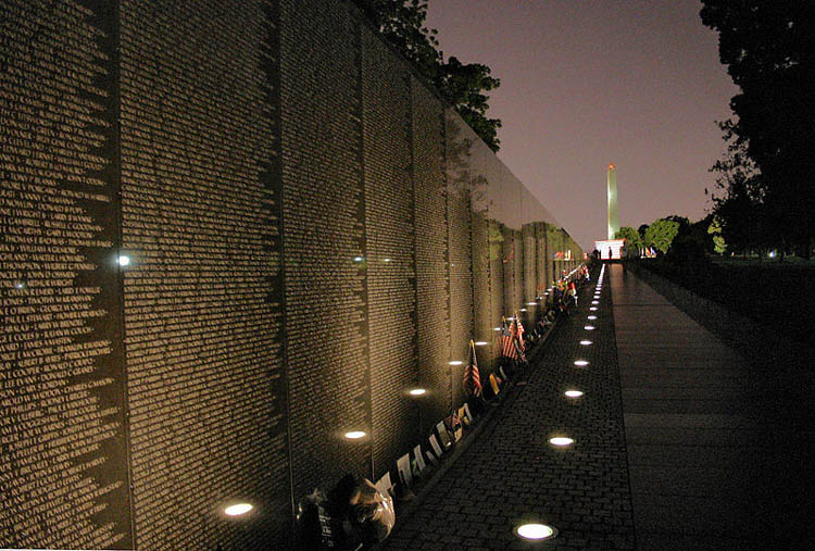 Vietnam Wall : Our Savior/Shepherd of the Hills - washington d.c